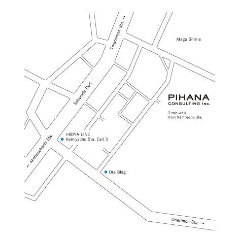 株式会社ピハナコンサルティング地図アクセスマップ